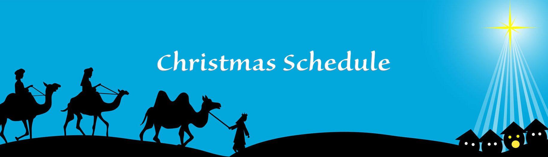 Christmas Schedule 2018