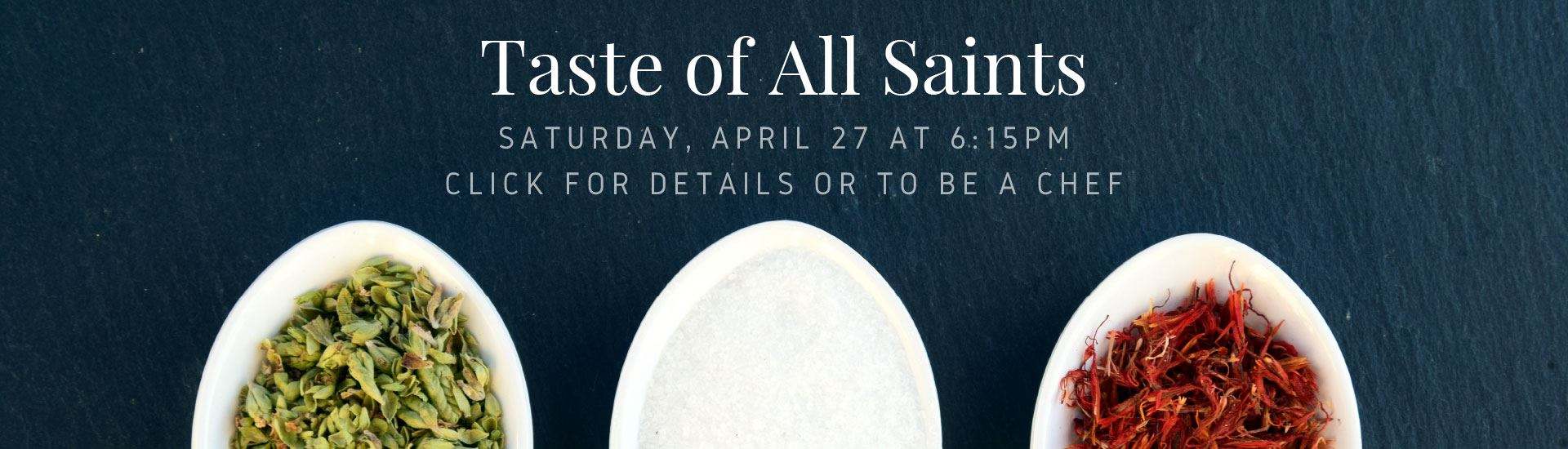 Taste of All Saints banner 2019
