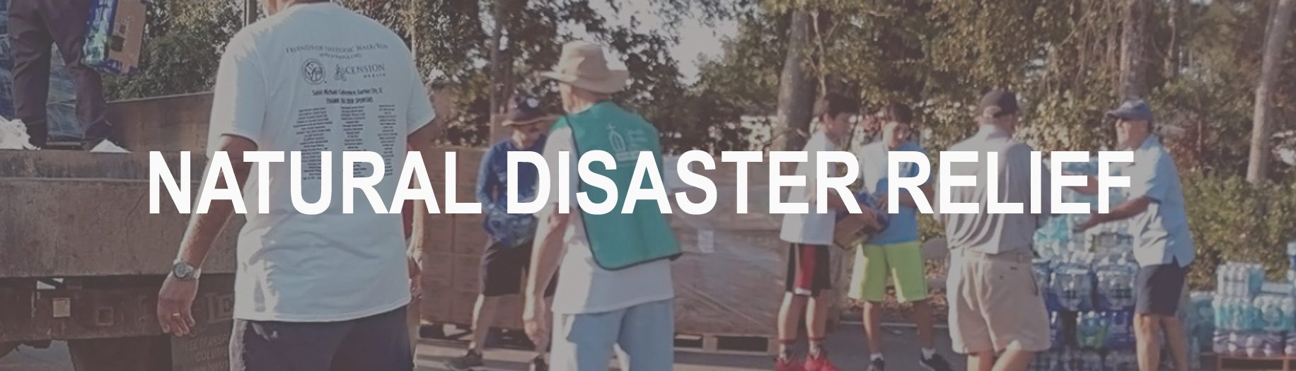 disaster relief banner