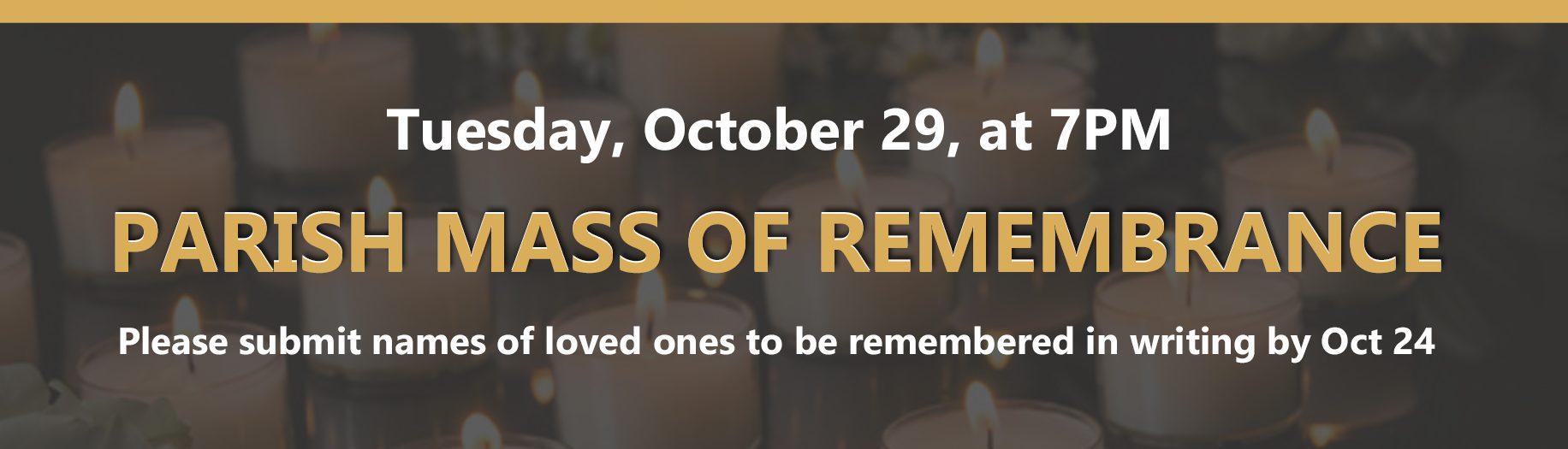 Parish Mass of Remembrance